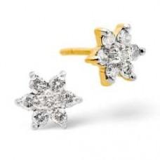 9K Gold Diamond Earrings 0.30ct