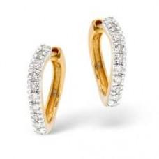9K Gold Diamond Earrings 0.16ct