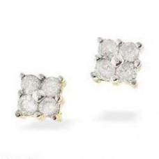 9K Gold Diamond Earrings 0.18ct