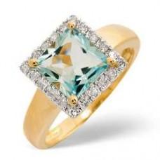 9K Gold Diamond Ring 0.17ct