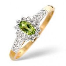 9K Gold Diamond Ring 0.14ct