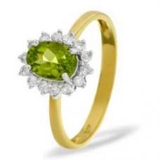 9K Gold Diamond Ring 0.21ct